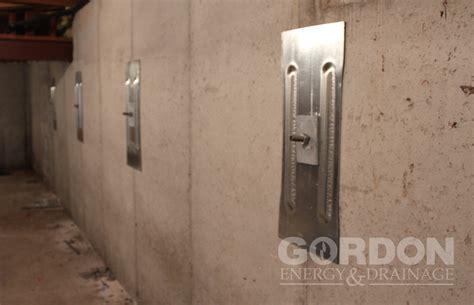 basement wall anchor plates kansas city foundation wall repair tiebacks gordon energy