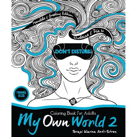 Jual Secret Travel Size coloring book for adults my own world jual www