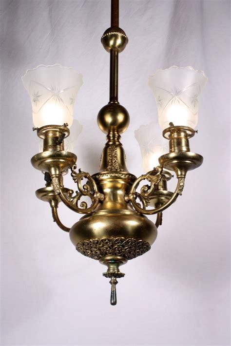 Antique Brass Chandeliers For Sale Splendid Antique Four Light Brass Chandelier 19th Century Nc734 For Sale
