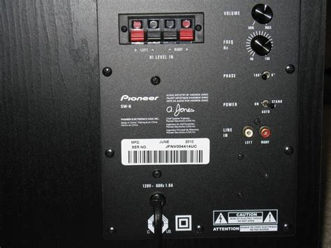 pioneer subwoofer sw  avs forum home theater