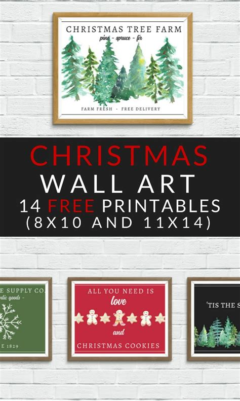 printable christmas wall decorations free printables farmhouse the craft