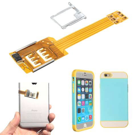1x portable dual 2 sim cards adapter convertor for apple iphone 6 6s 5 5s ebay