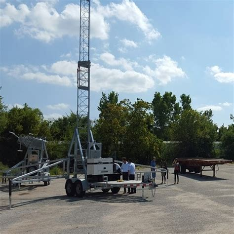 alltech communications cell on wheels, telescopic tower
