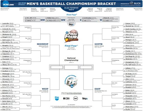 2013 new year s predictions printable on lilluna ncaa tournament 2017 printable march madness bracket all