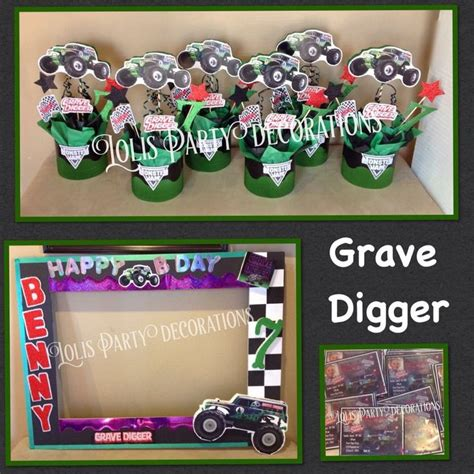 grave digger truck birthday supplies best 25 digger ideas on 2nd birthday