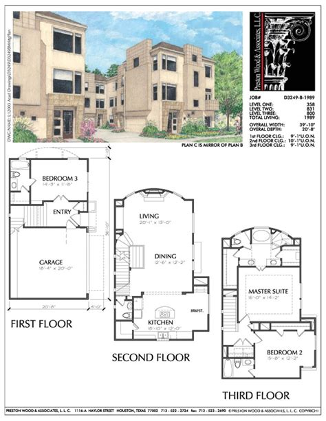 townhouse house plans 564 best 3 story th plan images on pinterest floor plans