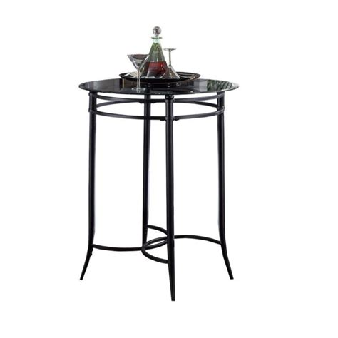 glass top bar table hillsdale cierra mix n match round glass top pub table