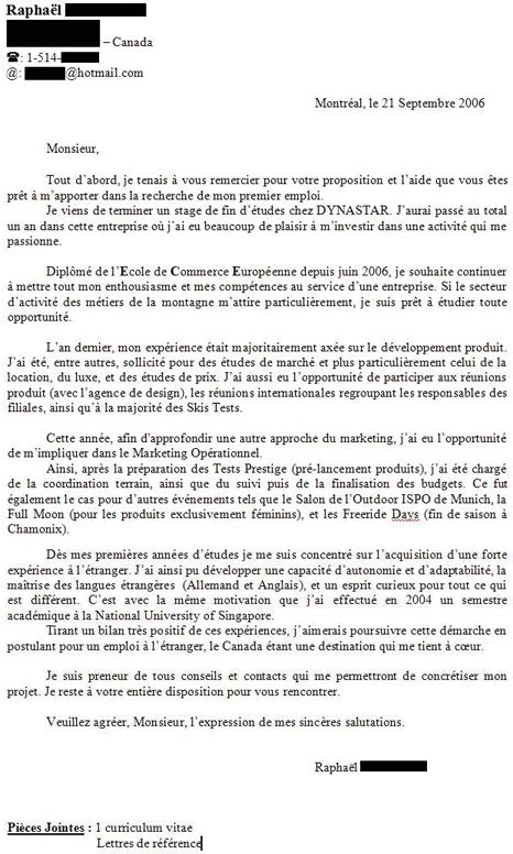 Lettre De Motivation Stage College Modele Lettre De Motivation Pour Stage En Entreprise