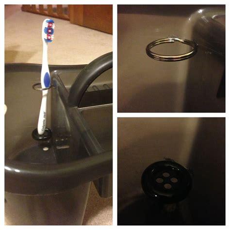 diy shower caddy diy toothbrush holder inside a shower caddy glue a