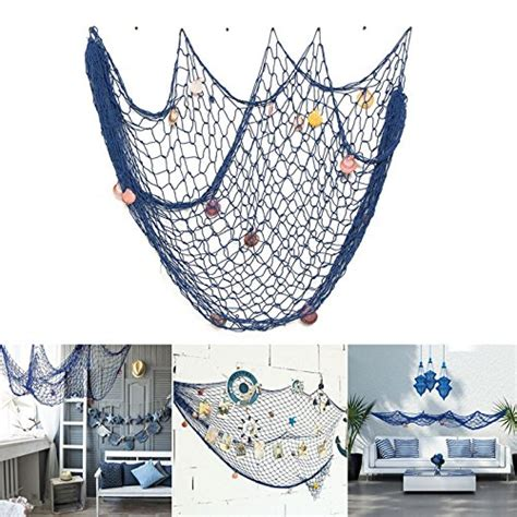 decorative fish net wall decoration nautical decorative fishing net rosoz sea theme fish net