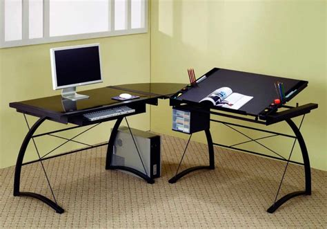 L Shaped Computer Desk Black Black L Shaped Computer Table Contemporary Desks And Hutches New York By Furniturenyc