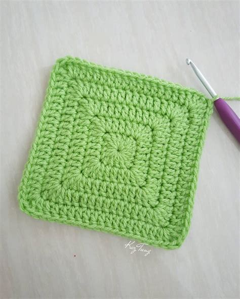 crochet granny square solid square without gaps just keep doing 2dc 1tr