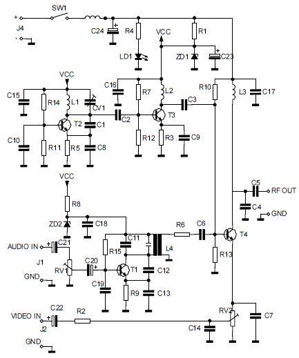 audiovideo  uhf tv signal converter modulator