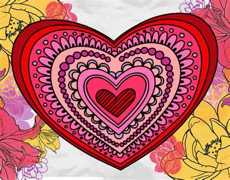 imagenes mandalas de corazones dibujo de mandala coraz 243 n pintado por julicarl en dibujos
