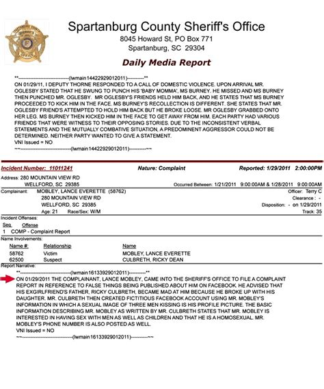 doc 585650 fake document templates sle police