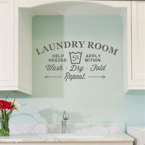 Laundry Room Decorations For The Wall Laundry Room Vinyl Wall Decal Sticker Large