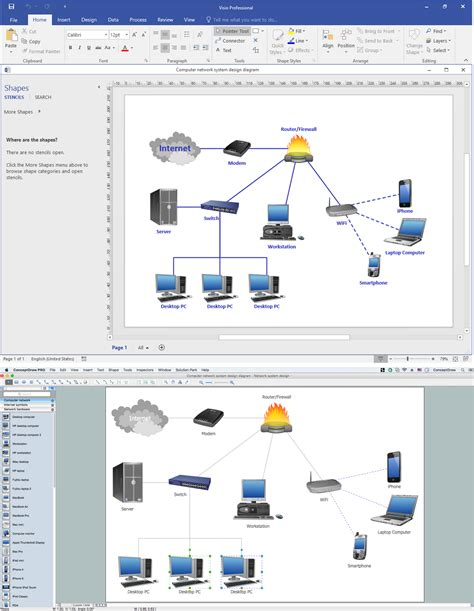 visio network template visio business process diagram visio free engine image
