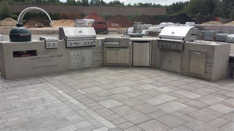 outdoor modular kitchen marceladick outdoor modular kitchen cabinets station landscape masonry supply norton ma