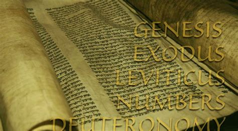 five books the pentateuch