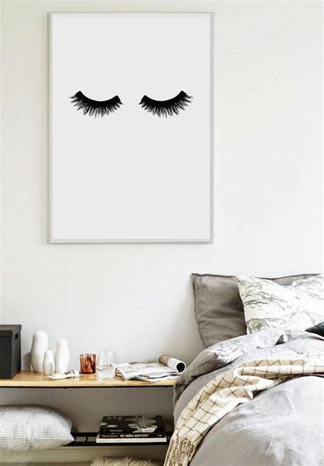11x14 bedroom lashes scandinavian print bedroom print home poster