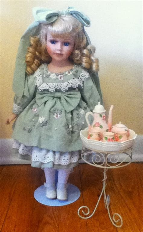 porcelain doll tea set tea set porcelain doll collectors weekly
