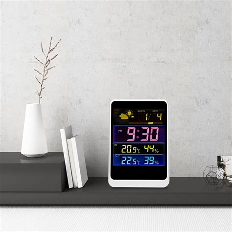 indoor wireless weather station alarm clock pm2 5 thermometer clock air quality monitor humidity