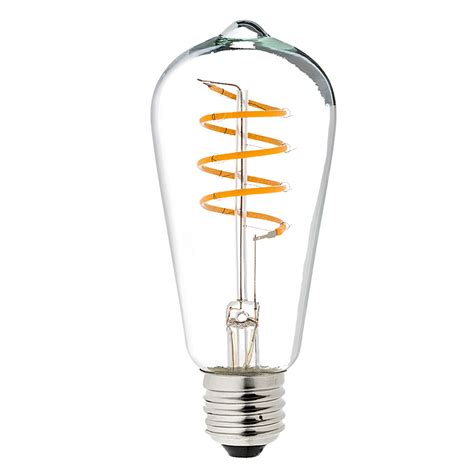 15 watt light bulb flexible filament led bulb st18 carbon filament style