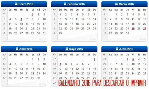 Calendario 2017 Colombia Para Descargar Calendario 2016 Para Descargar E Imprimir