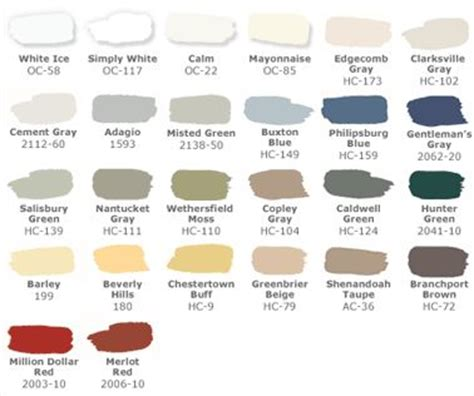 pottery barn paint colors paint ideas