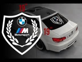 Bmw Decals Bmw Motorsport M Logo Rear Window Vinyl Stickers Decals