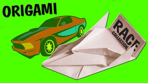 Origami Car - racing car simple origami for handmade