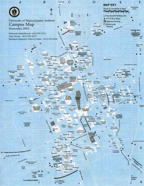 umass amherst cus map umass 2003 youmass