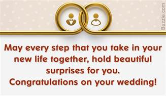 from your words of congratulations for a wedding