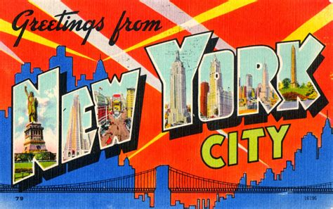 Greetings From New York City by Inside The Apple Postcard Thursday Greetings From The