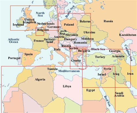 map of europe and middle east world war