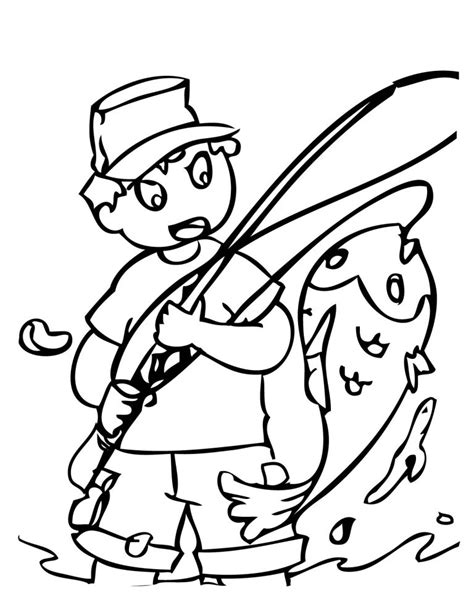 fishing rod coloring page clipart best