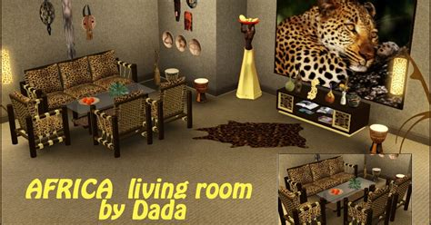 dada room cliosims3 africa living room by dada