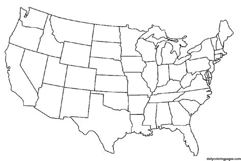 unlabeled map of the united states unlabeled map of usa coloring home
