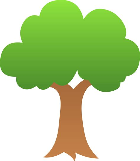 cute trees cute green tree design free clip art