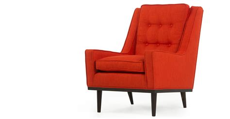orange armchair scott retro armchair in casablanca orange made com