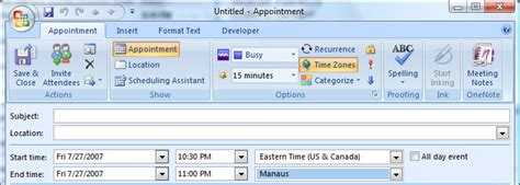 Calendar Zone Offset Outlook S Appointments And Time Zones