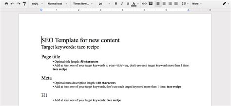 Seo Templates For Content In One Click Semrush Seo Template