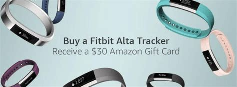 Fitbit Gift Card - buy a fitbit alta get a 30 amazon gift card small xl only currently bargains