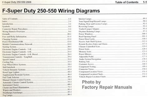 ford     super duty truck electrical wiring diagrams  factory repair