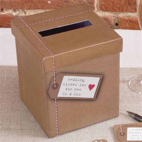 Wedding Wishes Card Box by Just My Type Wedding Wishes Post Box Uk Wedding Favours