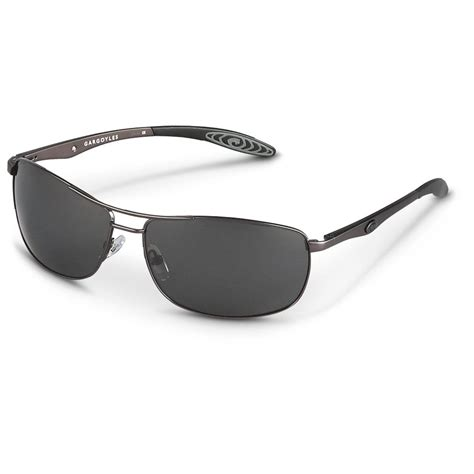 gargoyles 174 shakedown polarized sunglasses black frame