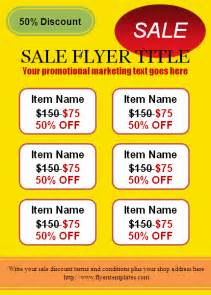 Sale Flyer Templates by Free For Sale Flyer Template
