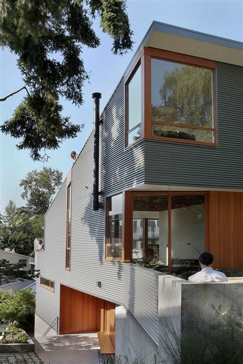 corrugated house designs corrugated steel house with warm wood details throughout modern house designs