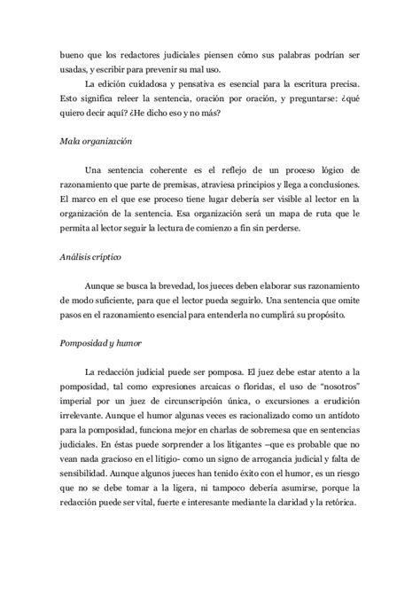 escribir writing manual judicial writing manual organizaci 243 n y redacci 243 n de la sentencia