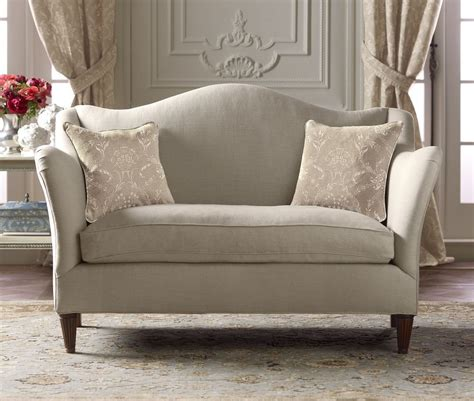 loveseat or love seat camelback loveseat french country from pierredeux com
